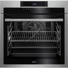 AEG BPE642020M Single electric oven pyroclean stainless steel