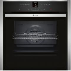 Neff B57CR23N0B Single electric oven, pyroclean, slide + hide door, stainless steel
