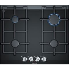 Siemens ER6A6PD70, Gas hob, 60cm, 4 burners, stepFlame, Cast Iron supports