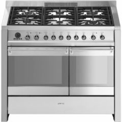 Smeg A2PY-81 , 100cm Stainless Steel Dual Cavity Dual Fuel Pyrolitic Opera Range Cooker