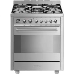 Smeg C7GPX8  70cm Stainless steel Single Cavity Dual Fuel Cooker
