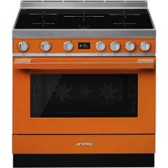 Smeg CPF9IPOR Orange Induction Portofino Range Cooker 90cm