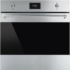 Smeg SFP6301TVX ,Classic 60cm Stainless Steel Pyrolitic Multifunction Maxi Single Oven