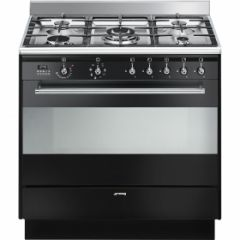 Smeg SUK91CMX9 , 90cm Concert Stainless Steel Single Cavity Ceramic Cooker