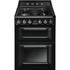 Smeg TR62BL 60cm Dual Fuel Cooker, two cavity, Victoria
